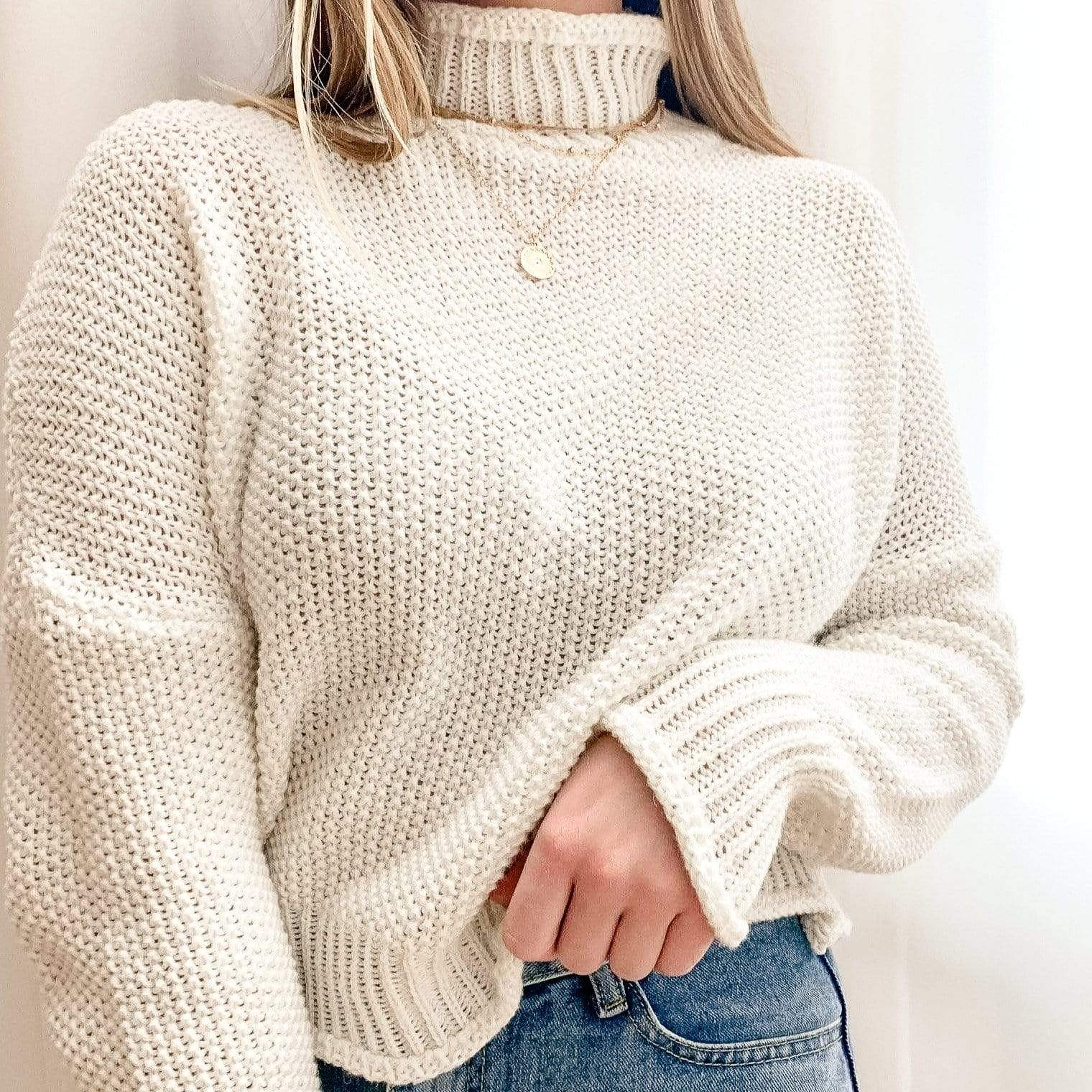 Westware Chunky Knit Turtleneck Sweater