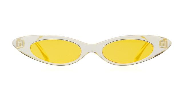Westware CLEAR/YELLOW / United States Oval Cateye Sunglasses