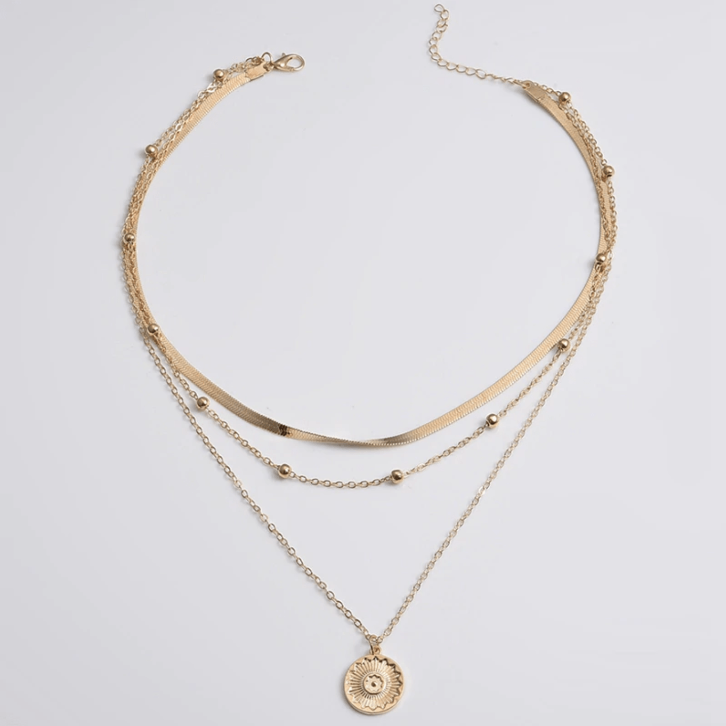 Westware Coin Layered Necklace