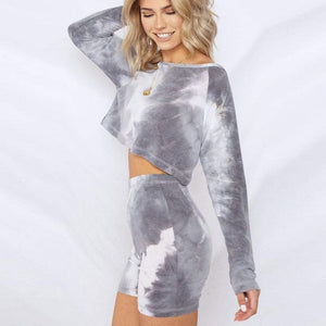 Westware Gray / L / United States Long Sleeve Tie Dye Set