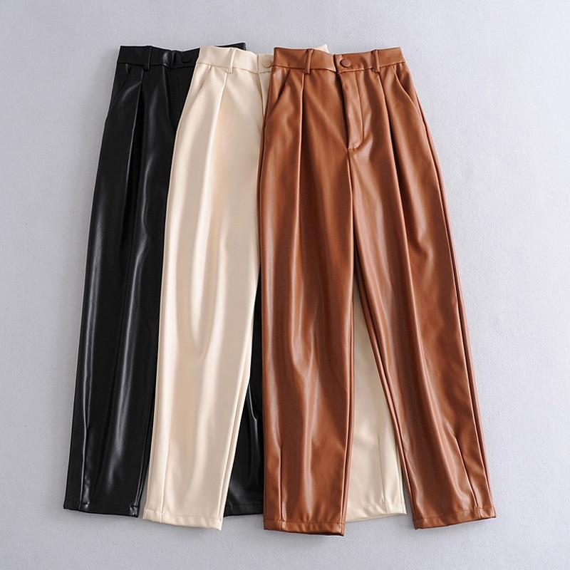 Westware High Waisted Vegan Leather Trousers