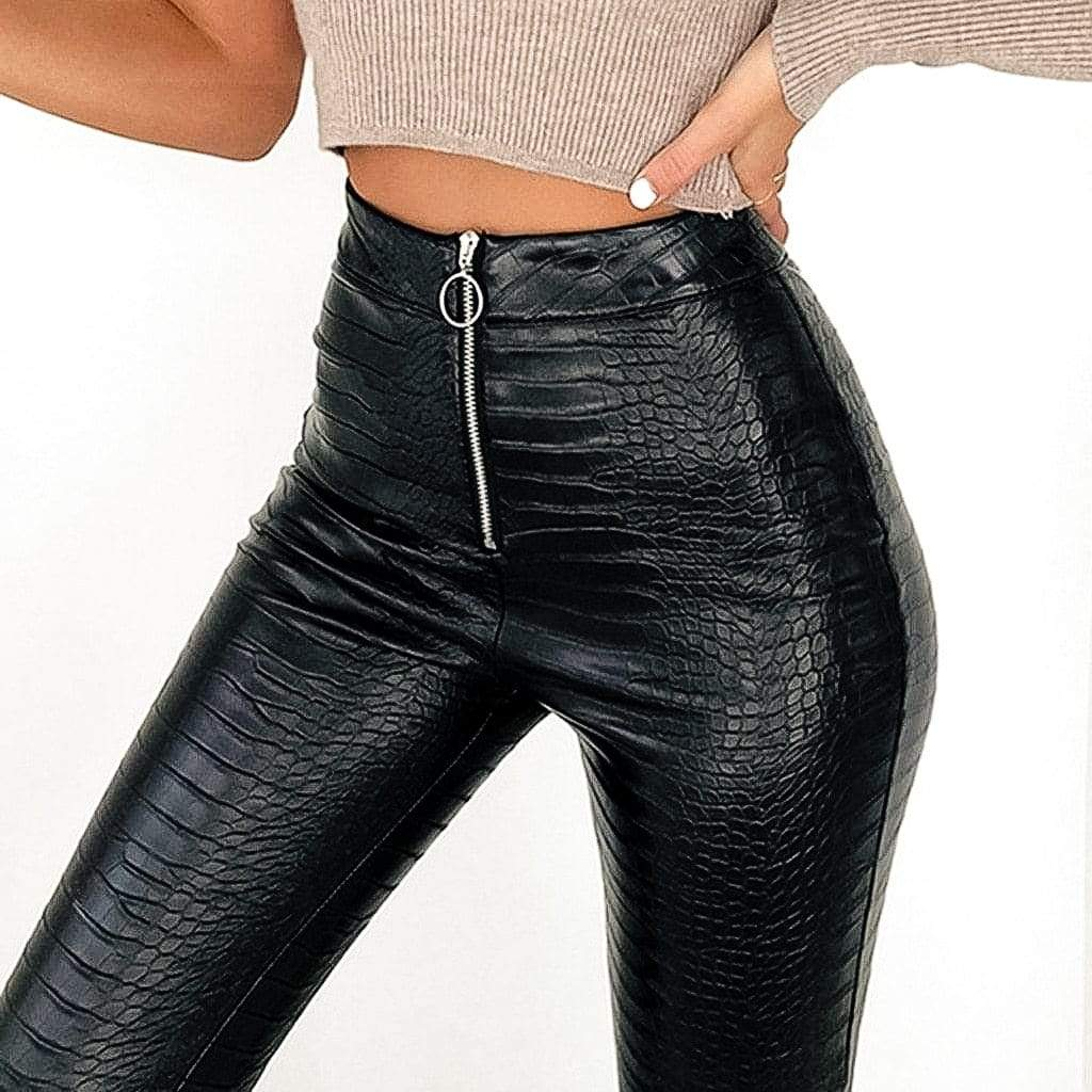 Westware High Waisted Zip Vegan Leather Pants