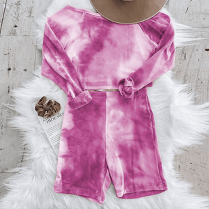 Westware Hot Pink / L / United States Long Sleeve Tie Dye Set