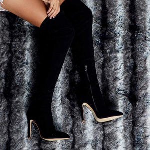 Westware Over The Knee Snake Print Boots -  High Heel