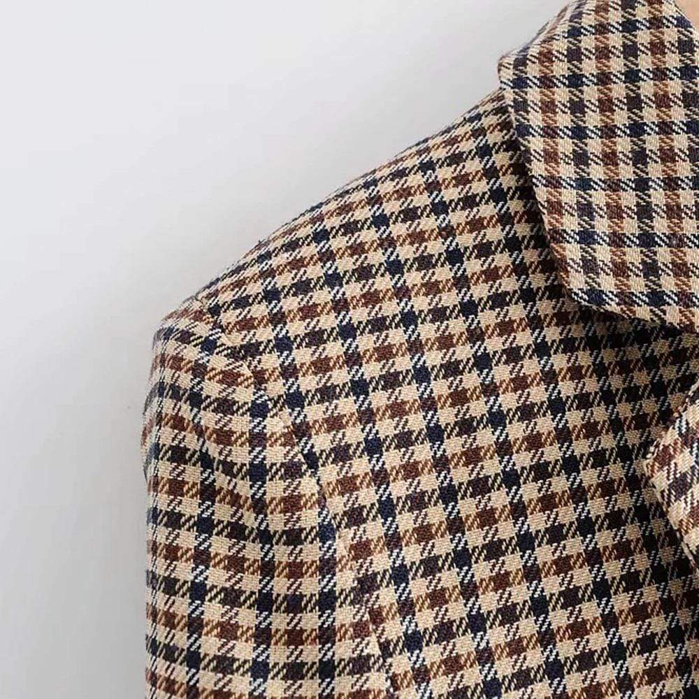 Westware Plaid Double Breasted Blazer