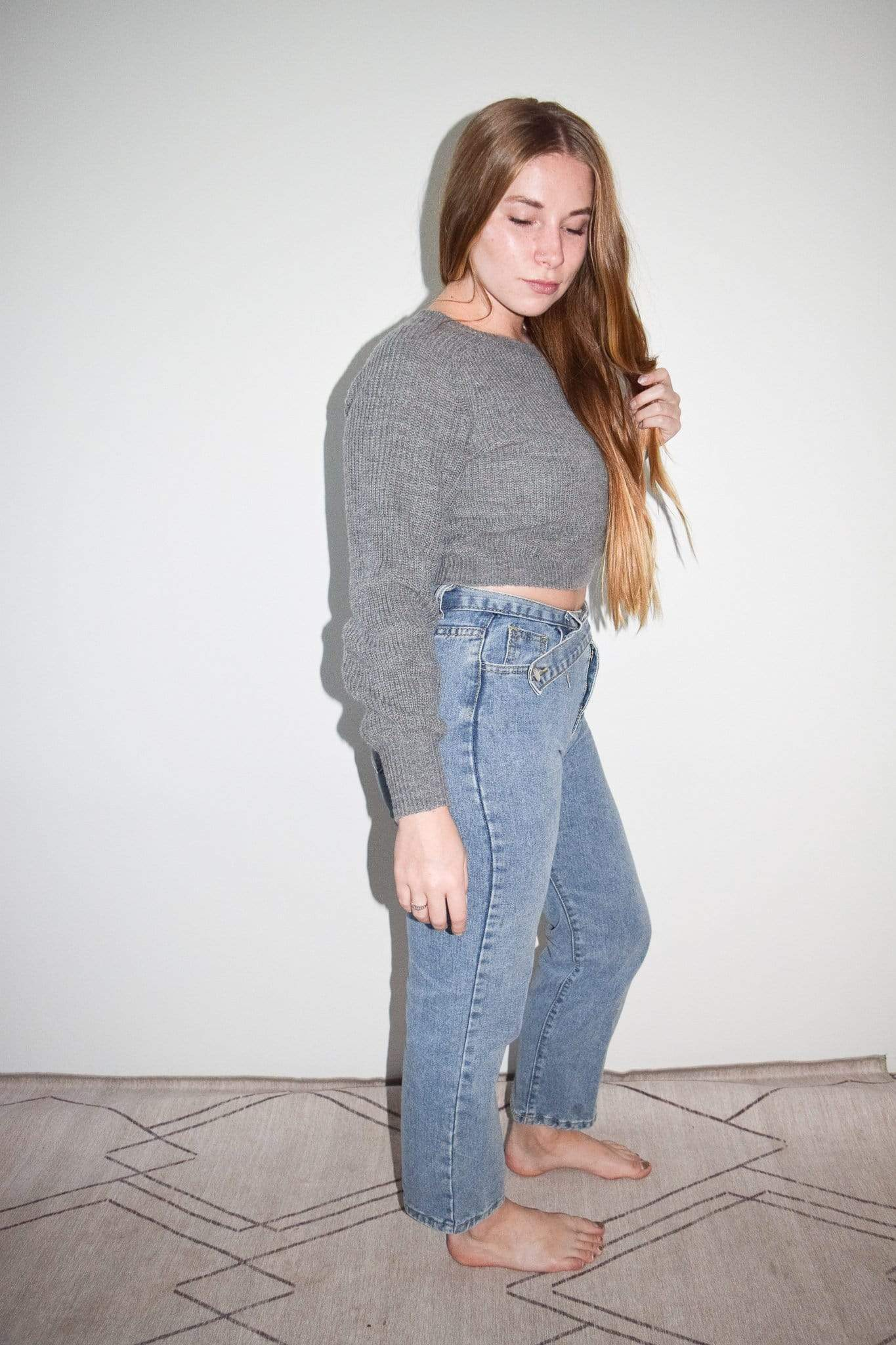 Westware Ribbed Crop Sweater