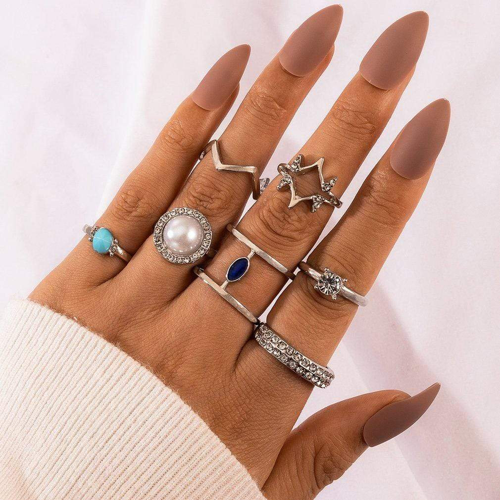 Westware Silver / United States Boho Ring Set