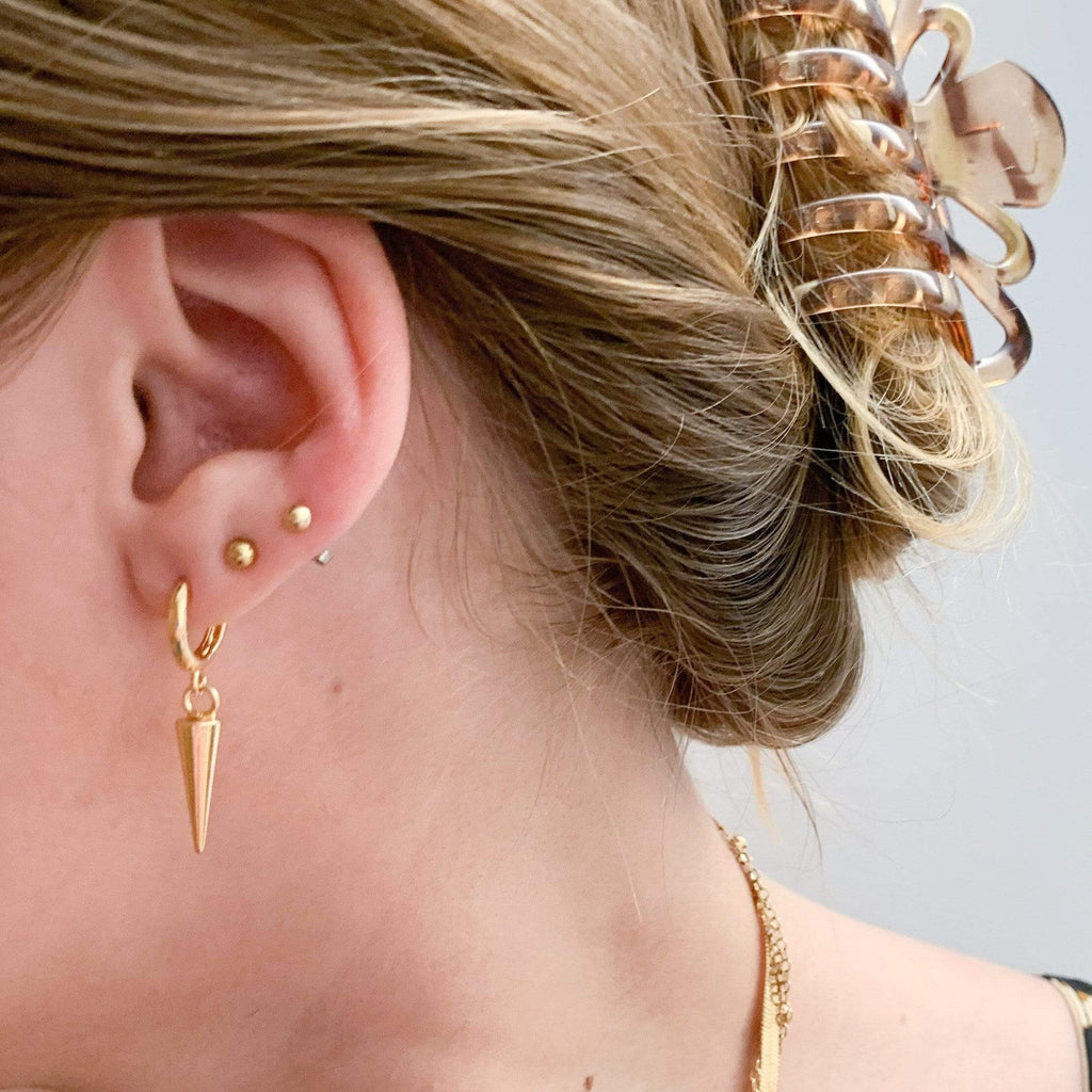 Westware Spike Huggie Hoop Earrings