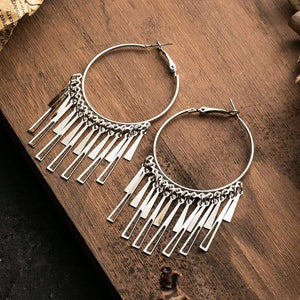 Westware Tassel Hoop Earrings