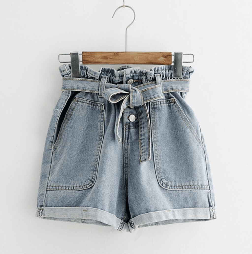 Westware Tie Waist Denim Shorts