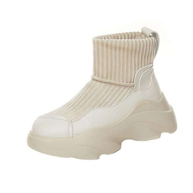 Westware White / 8 / United States Chunky Sock Boots