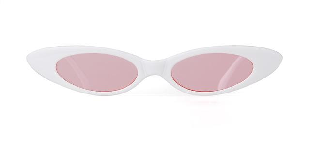 Westware WHITE/PINK / United States Oval Cateye Sunglasses