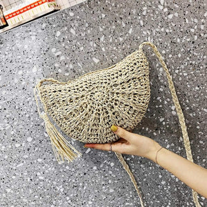 Westware Woven Crescent Shoulder Bag