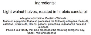 Walnut Halves (No Salt) - Nutty World
