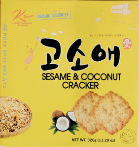 Ktown Sesame & Coconut Crackers - Nutty World