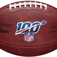 NFL ON-FIELD FOOTBALL 100 YEAR NFL AUTHENTIC GAME FOOTBALL