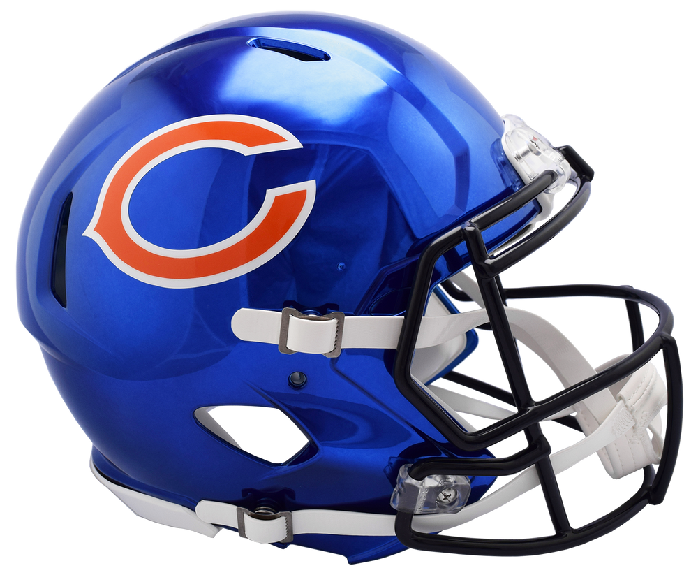 CHICAGO BEARS CHROME SPEED AUTHENTIC HELMET