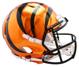 CINCINNATI BENGALS CHROME SPEED REPLICA HELMET