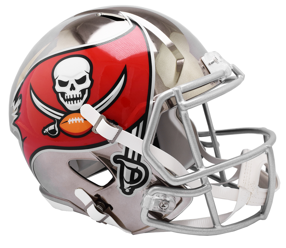 TAMPA BAY BUCCANEERS CHROME SPEED REPLICA HELMET