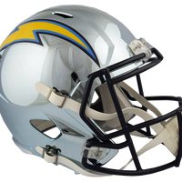 LOS ANGELES CHARGERS CHROME SPEED REPLICA HELMET