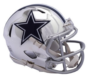 DALLAS COWBOYS CHROME SPEED MINI HELMET
