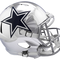DALLAS COWBOYS CHROME SPEED REPLICA HELMET