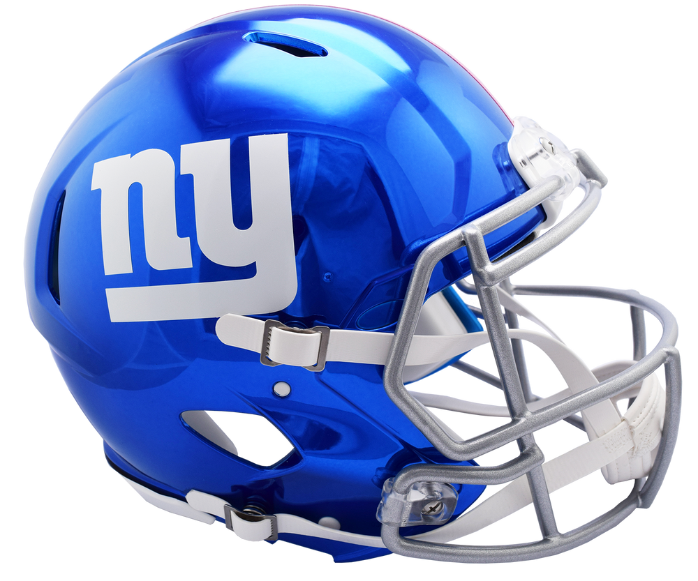 NEW YORK GIANTS CHROME SPEED AUTHENTIC HELMET