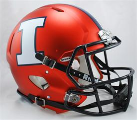 ILLINOIS FIGHTING ILLINI MATTE ORANGE NCAA SPEED AUTHENTIC HELMET