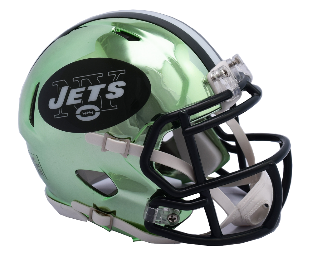 NEW YORK JETS CHROME SPEED MINI HELMET