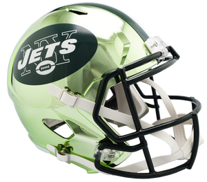 NEW YORK JETS CHROME SPEED REPLICA HELMET