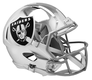 OAKLAND RAIDERS CHROME SPEED REPLICA HELMET