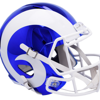 LOS ANGELES RAMS CHROME SPEED REPLICA HELMET