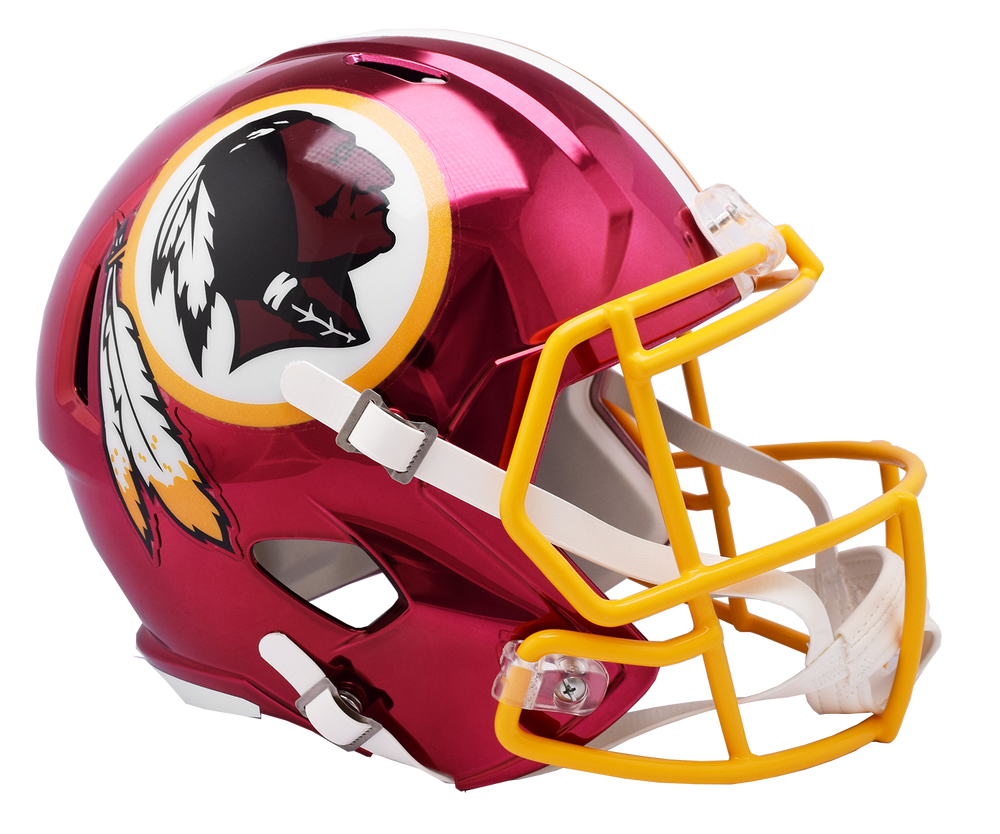 WASHINGTON REDSKINS CHROME SPEED REPLICA HELMET