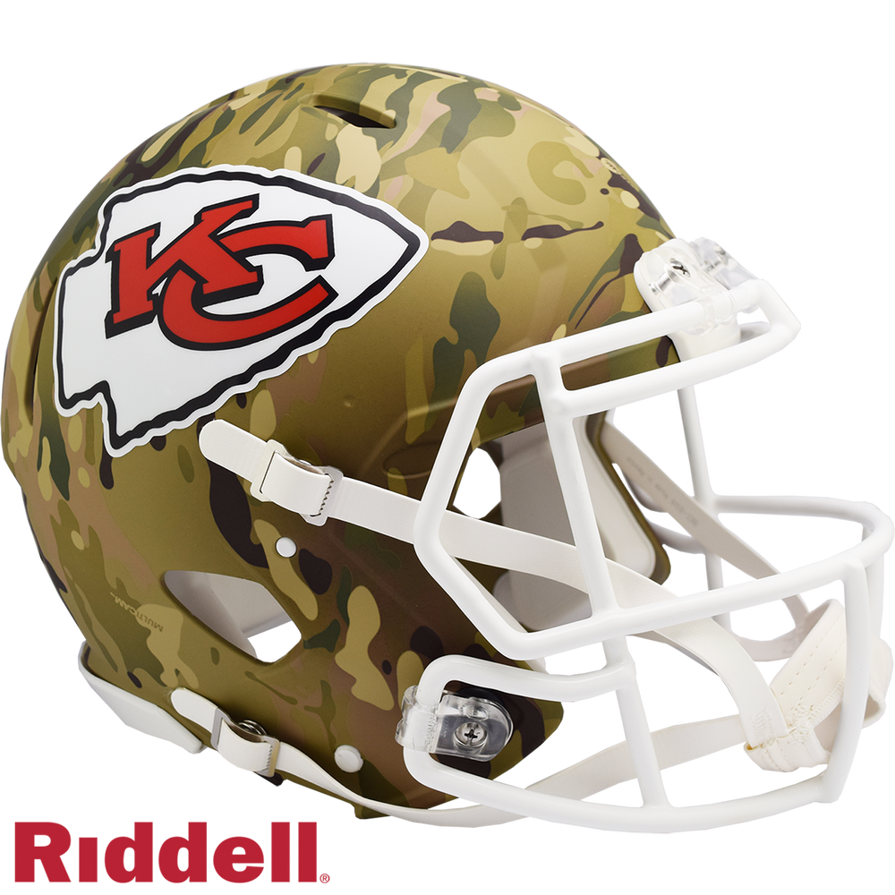 KANSAS CITY CHIEFS CAMO SPEED AUTHENTIC HELMET
