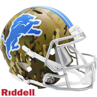 DETROIT LIONS CAMO SPEED AUTHENTIC HELMET