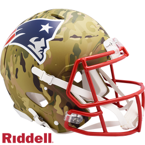 NEW ENGLAND PATRIOTS CAMO SPEED AUTHENTIC HELMET