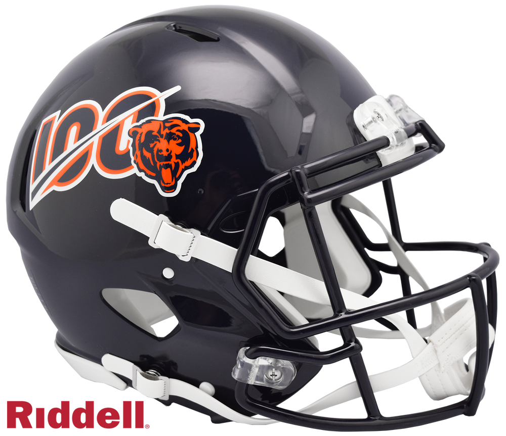 CHICAGO BEARS 100 YEARS CURRENT STYLE SPEED AUTHENTIC HELMET