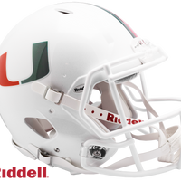 MIAMI HURRICANES NCAA SPEED AUTHENTIC HELMET