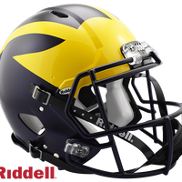 MICHIGAN WOLVERINES NCAA SPEED AUTHENTIC HELMET
