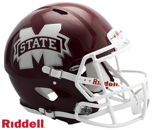 MISSISSIPPI ST. BULLDOGS NCAA SPEED AUTHENTIC HELMET