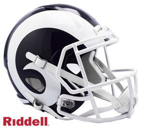 LOS ANGELES RAMS WHITE HORN CURRENT STYLE SPEED AUTHENTIC HELMET