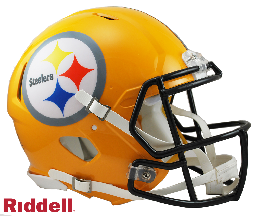 PITTSBURGH STEELERS GOLD CURRENT STYLE SPEED AUTHENTIC HELMET