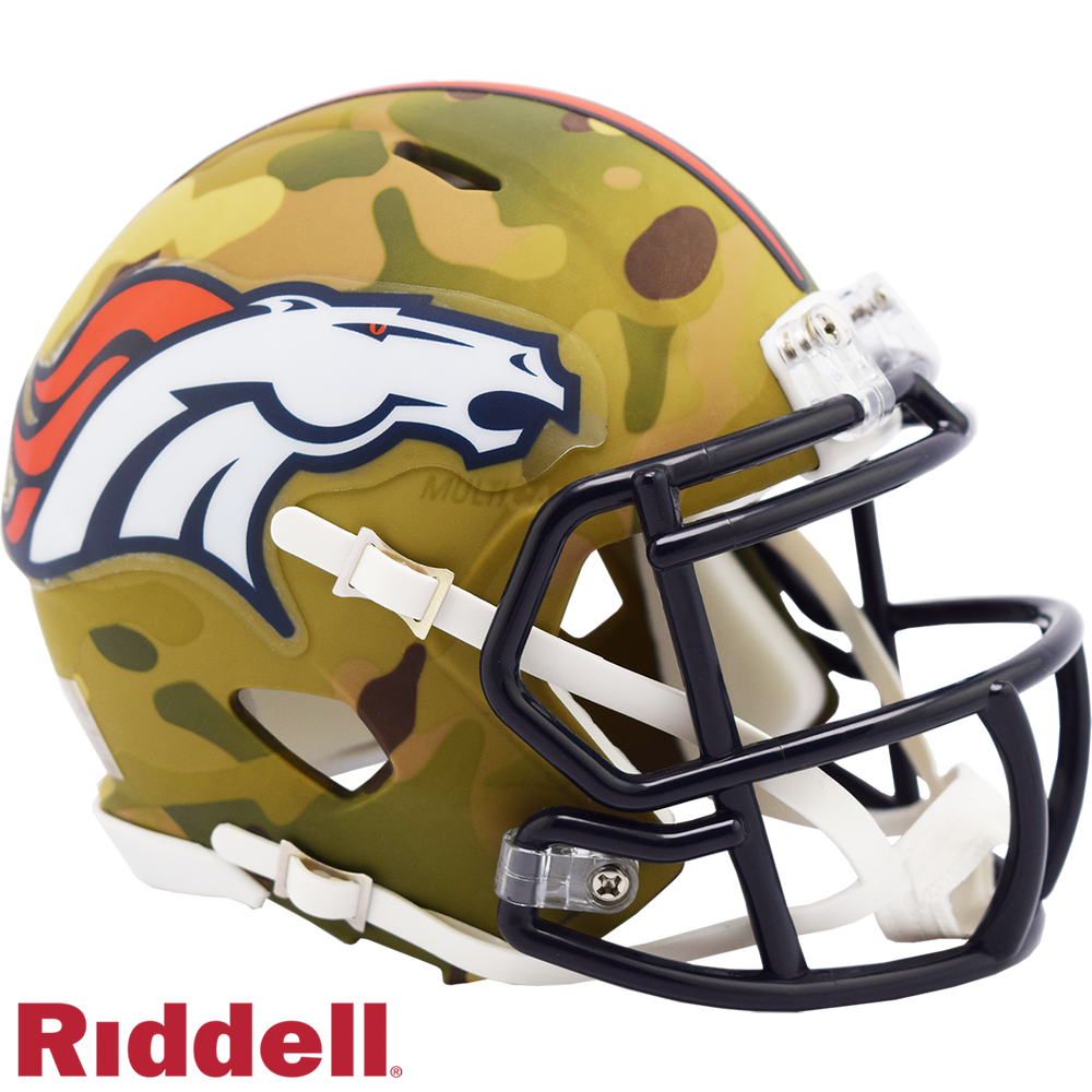 DENVER BRONCOS CAMO SPEED MINI HELMET