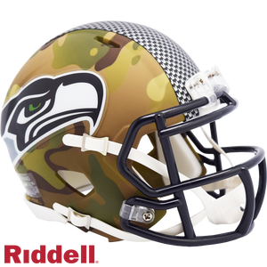 SEATTLE SEAHAWKS CAMO SPEED MINI HELMET
