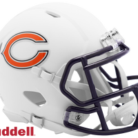CHICAGO BEARS FANATICS FLAT WHITE MINI HELMET