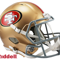 SAN FRANCISCO 49ERS CURRENT STYLE SPEED REPLICA HELMET