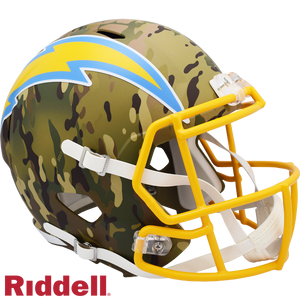 LOS ANGELES CHARGERS CAMO SPEED REPLICA HELMET