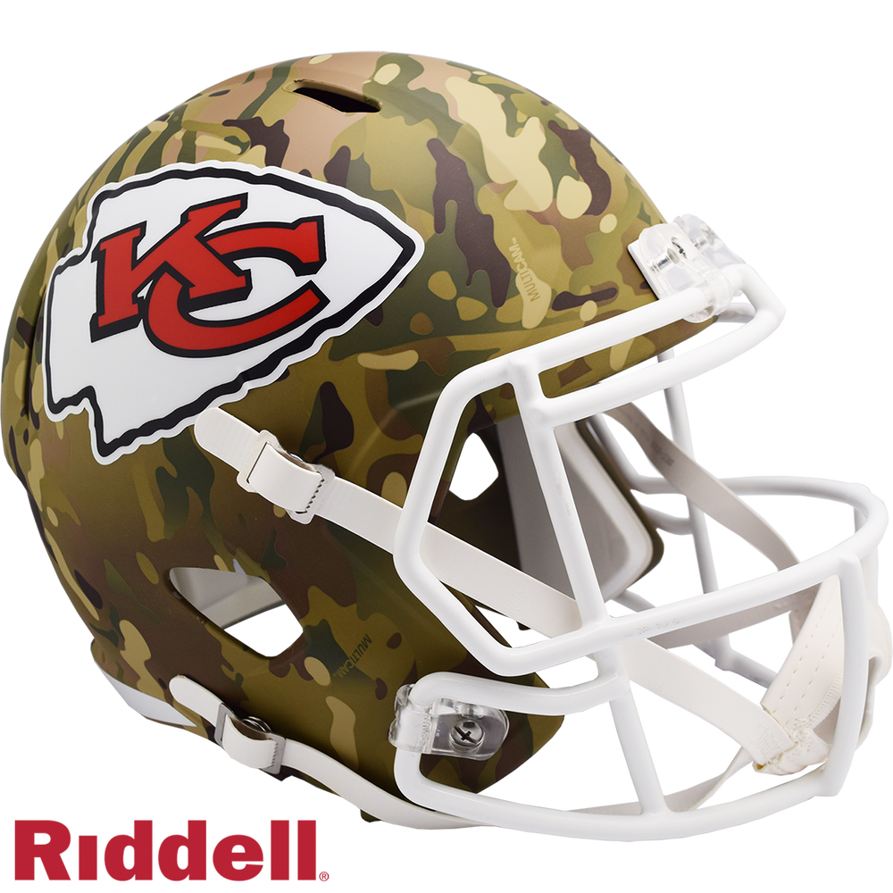KANSAS CITY CHIEFS CAMO SPEED REPLICA HELMET