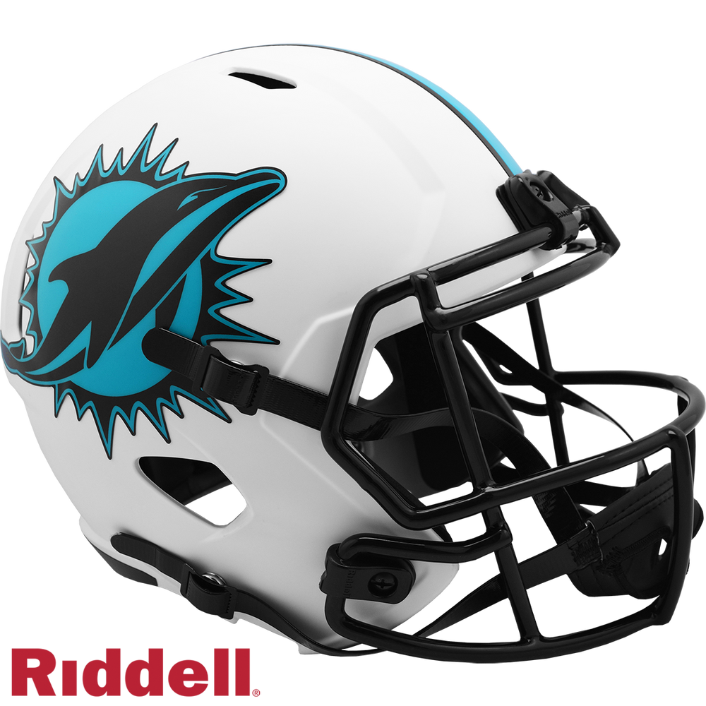 MIAMI DOLPHINS LUNAR SPEED REPLICA HELMET