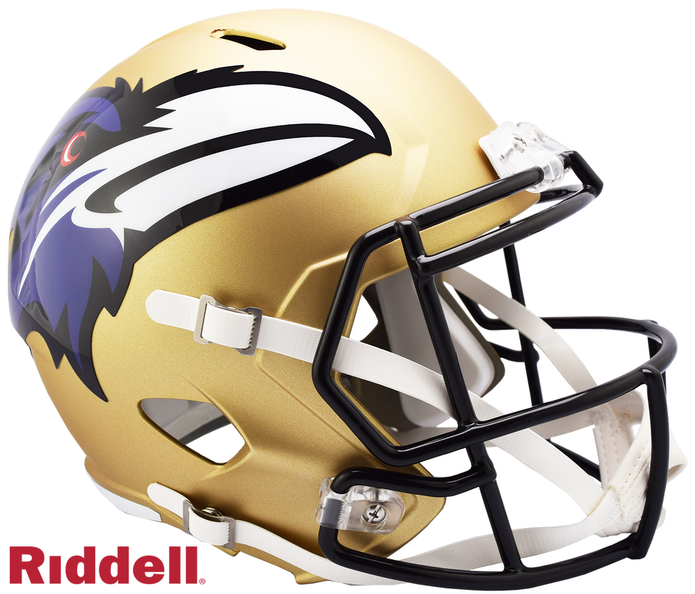 BALTIMORE RAVENS AMP SPEED REPLICA HELMET